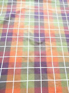 """Tablecloth 76""""L x 60""""W Fall Plaid Print Cotton"""