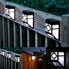 Solar Powered Outdoor Wall Mount LED Lamp Light Garden Path Landscape Fence Yard
