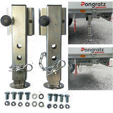2x Stützen Abstellstützen Stützfuß Heckstütze Pongratz Anhänger klappbar 35-55cm