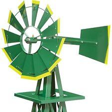 Miniature 4 Ft Windmill (American Farm Style) 4 ft Green Yellow Tips Steel 34