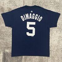 Majestic MLB New York Yankees Joe DiMaggio Baseball Shirt Mens Large