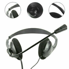 Headset PC 3,5mm Klinke Stereo Kopfhörer mit Mikrofon Laptop Video-Konferenzen