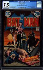 Batman 244 CGC 7.5 OW/W Bronze Age Key DC Comic Signed By Neal Adams L@@K IGKC