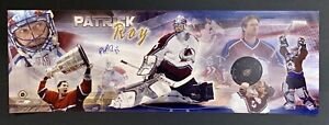 Patrick Roy Avalanche Signed 12x36 Panoramic Photo Autographed Mounted Memories