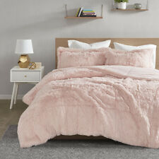 NEW! ~  ULTRA SOFT PLUSH PINK FUR WARM  LUXURY MODERN LUXURIOUS COMFORTER SET