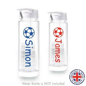 Personalised Football Name Decal Sticker for School Water Bottle Kids Boy Sports