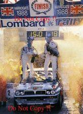 MARKKU ALEN MARTINI LANCIA DELTA INTEGRALE WINNER RAC RALLY 1988 fotografia 3