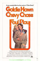 FOUL PLAY MOVIE POSTER Original 27x41 CHEVY CHASE GOLDIE HAWN Rare Rolled