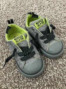 Baby Boy Size 6 Converse Gray Lime Tennis Shoes