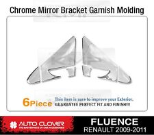 Chrome Mirror Bracket Trim Garnish Molding B424 For RENAULT 2010-2016 Fluence