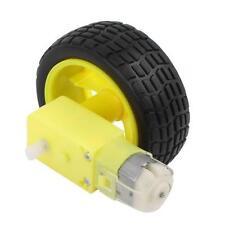 Arduino Smart Car Robot Plastic Tire Wheel with DC 3-6v Gear Motor for Robot