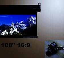 """108"""" 16:9 HD ELECTRIC PROJECTION PROJECTOR SCREEN Motorized Projection screen"""