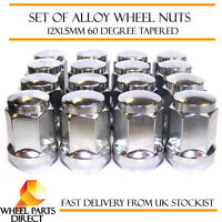 Alloy Wheel Nuts (16) 12x1.5 Bolts Tapered for Ford Ecosport 12-16