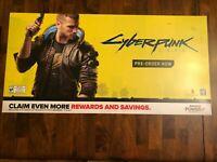 CYBERPUNK 2077 GAMESTOP PROMOTIONAL 36 '' x  18 ''DISPLAY POSTER +FREE SHIP🔥