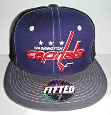 4656b0d4b93 NEW Zephyr CAP FITTED NHL WASHINGTON CAPITALS SIZE 7 BLUE NEW HAT