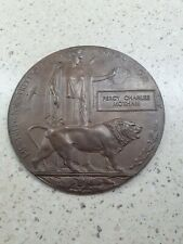 More details for ww1 death plaque percy charles moxham