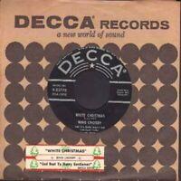 Crosby, Bing - White Christmas Silver Line Decca  23778 Vinyl 45 rpm Record