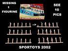 35 Vtg Plasticville Citizens Figurine HO set Stem(6) NM Oval Bases. W/ Box