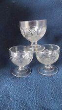 "EAPG - Gillinder Glass Co, #467-5-1 ""Buckle"" open salts (3)"