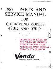 Vendo 480d 570d parts service manual (117 pages) PDF sent by email