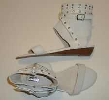 BEAUTIFUL KENJI SUEDE & LEATHER ANKLE CUFF MINI WEDGE SANDALS 40