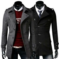 Stylish Outwear Casual Coat New Winter Men Long Jacket Slim Fashion Overcoat