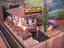 HO Passenger Train Station Weathered Detailed Built Assembled Diorama BUILDING