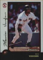 1998 Bowman Chrome Refractors Boston Red Sox Baseball Card #35 Mo Vaughn