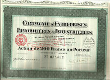 France 1929. Entreprises immobilières.Top Condition.