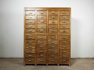 Vintage Wooden Rustic Drawers Cabinet Apothecary Shop Haberdashery MILL-985