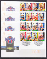 1996 AFL SET OF 4 FDCs.