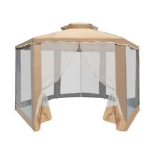 ALEKO Double Roof Hexagon Canopy Outdoor Patio Gazebo With Netting 6.5X6.5X6.5Ft
