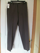 NWT DOCKERS COOL EFFECTS KHAKI FLAT FRONT DRESS PANTS W30 L30 DK Gray Straight f
