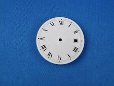 Blank White Wrist Watch Dial Part -Latin Numbers- 31.5mm -Swiss Made-  #238