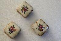 Rounded Surface & Corner Floral Ceramic Tile Magnets