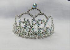HAPPY BIRTHDAY Silver Iridescent Tiara Hair Piece Birthday Girl