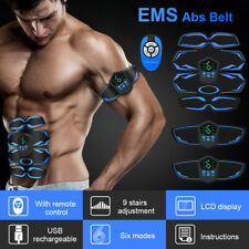 EMS ABS Muscle Stimulator LCD Display Body Shaping Device Arm Legs Massager