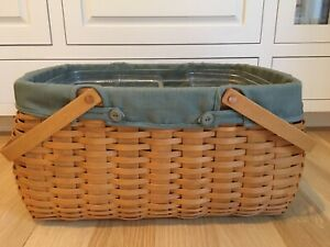 Longaberger Hostess Craft Keeper Basket Combo with liner, and 3 piece protector