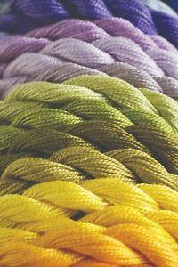GENUINE DMC PERLE (PEARL) Size No 8-Small  COTTON - Cols Blanc - 3865