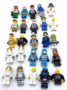 LEGO HUGE LOT OF 25 MINIFIGS TOWN CITY PEOPLE GUYS NINJAGO GARMADON SPACE MIX