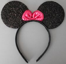 12 x Minnie mouse ears hairband fancy dress party hen night glitter black