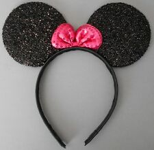 Minnie mouse ears hairband fancy dress party hen night glitter black