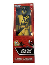 "Sabans Power Rangers Ninja Steel Yellow Ranger 12"" Bandai 2016 Nickelodeon 43623"