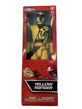 "Sabans Power Rangers Ninja Steel Yellow Ranger 12"" Bandai 2016 Nickelodeon 43623"