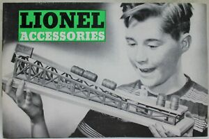LIONEL TRAINS ACCESSORIES ADVERTISING CATALOG GUIDE BOOKLET 1954 VINTAGE