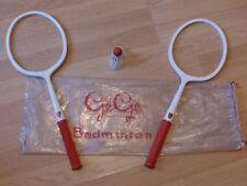 jeu raquettes de badminton gégé vintage années 60 70