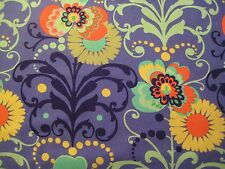 1/4 Yard Amy Butler Purple Aqua Orange Black Floral Fabric Quilt 100% Cotton