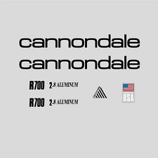 Cannondale R700 Bicycle Frame Stickers - Decals: Black. n.2