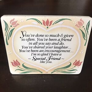 Special Friend Sign