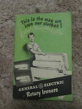 General Electric Rotary Ironers owners manual     ct50